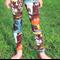 Multi Colour Graffiti Style Leggings Girl's Sizes 7-12