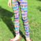 Grey Rainbow Bunting Flag Leggings Girl's Sizes 7-12