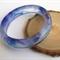 Blue and Purple Swirl Resin Bangle