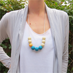 9 bead Cleo Gumball Necklace - Silicone Beaded Necklace