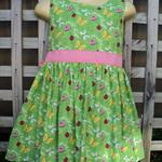 Beautiful Butterfly Print Girls Dress