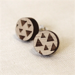 Triangles - Wood Earring Studs with Sterling Silver posts