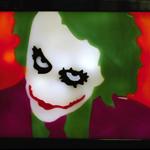 Batman Heath Ledger the Joker wax painting sculpture led light lamp candle art