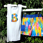 MaisyMoo Designs Beach Boy Board Shorts - 'Cowabunga' Shorts Set