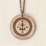Ahoy Sailor - Nautical Anchor Wood Necklace