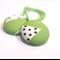 Hair ties - leafy green / cool green white brown / girl toddler tween