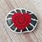 Crochet Pebble Cozy Fridge Magnet Love Heart Red White Kitchen Gift Stone Rock
