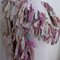 long raggy recycled Silk off white cream beige pink handknitted scarf