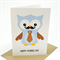 Happy Father's Day Card - Owl Dad with Tie - HFD009