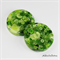 Lime Green Buttons Drink coasters / paperweights - Single - Resin