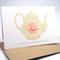 Birthday Card - Female - Vintage Shabby Chic Tea Pot - HBF087