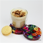 Multicoloured Buttons Drink coaster / paperweight - SINGLE - Resin