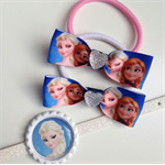 Frozen Elsa Princess Boutique Hair clip and Hair Tie Gift Set