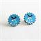 Blue Dragonfly Stud Wood Earrings