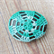 Crochet Pebble Cozy Fridge Magnet Green Ombre Turquoise Kitchen Gift Stone Rock
