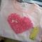 """My Love"" Baby Girls Pink Stripe Heart Shirt - Size 00 (long sleeve)"