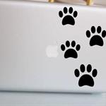 Paw Prints Laptop Decal Sticker - Choose your colour