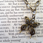 Butterfly Charm Bracelet - Antique Brass Look