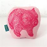 Decorative pink wombat cushion // childs cushion // wombat cushion