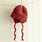 crochet beanie | baby autumn colour | earflap hat