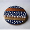 Wooden brooch,recycled timber.Handpainted.