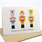 Merry Christmas Card - 3 Nutcrackers - XMS021