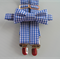 Boys gingham bow tie and braces set - blue gingham, blue white, check, party