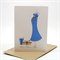 Baby Shower Card - Blue Pregnancy Dress with Presents - BBYSHW012