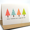 Merry Christmas Card - 4 Chevron Christmas Trees - XMS028