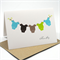 Baby Card - It's a Boy - Baby Boy All In Ones on a Line - BBYBOY026