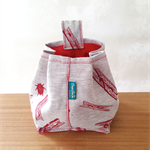 Peg Bag // Peg Print Fabric // Fabric Storage Bag // Peg Holder
