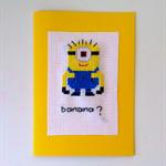 Minion Card,Minion Banana Card,Greeting Card,Popular Greeting Card.