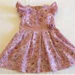 Vintage inspired dusky rose pleated toddlers party dress.