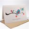 Engagement Card Congratulations - Kissing Love Birds on Branch - ENG014