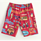 Sizes 5 to 10 Pipeline Red Vintage Hawaiian Boys Shorts