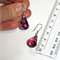 Austrian Swarovski Amethyst Purple cabochonette crystal silver drop earrings