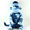 'Clarence' the Sock Monkey (blue camouflage) - *ready to post*