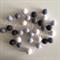 Felt Ball Garland Grey Skies in Off-Black, Grey, Light Blue & White