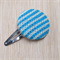 Large Knit Hair Clip - Blue / Lemon