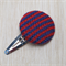 Large Knit Hair Clip - Red / Purple