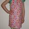 Kids apron, size 2-4, adjustable - bright butterflies