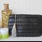 Oversized clutch purse:  black shimmer fringe