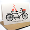Congratulations Wedding Card - Tandem Bike with Love Birds - WED036