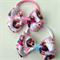 Disney FROZEN Princess Pink Crochet Hair Bow Elastic Ties 2 pack