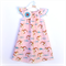"""Unicorns & Rainbows"" Flutter dress with brooch Sizes 2-4 Pretty, Pink, party"