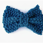 Hair bow with clip chunky knit bow girl's hair clip women's hair accessories
