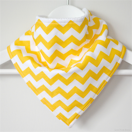 BUY 3 GET 4th FREE Bandana Dribble Bib Yellow Chevron