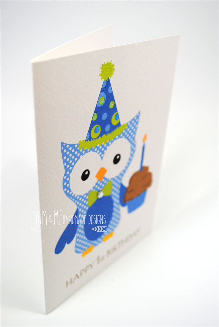 1st Birthday Cupcake Boy 1st Birthday Card Boy