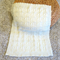 Hand Knitted Cream Pure Wool Baby Rug/Blanket, with Beautiful Cable Detail