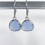 Sky blue glass earrings, sterling silver earrings, dangle earrings